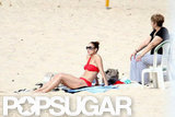 J Lo Wears a Sexy Bikini For Beach Fun With Casper, Max, and Emme