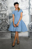 Diane Kruger wore a light blue dress for the Chanel photo call in Paris.