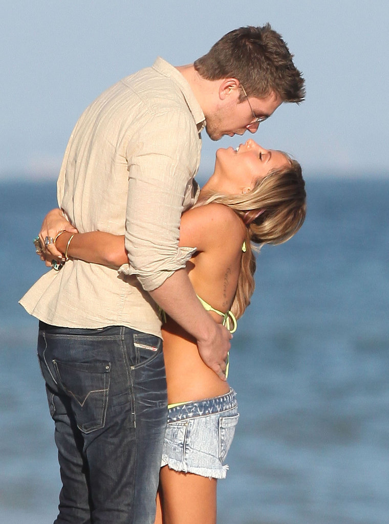 Ashley Tisdale and Scott Speer laughed together on the beach in Malibu.