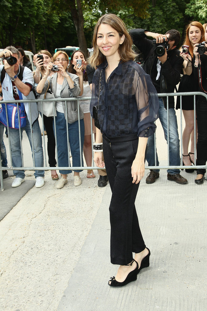 Sofia Coppola arrived at the Chanel show in Paris.