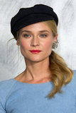 Diane Kruger gave a smile at the Chanel photocall in Paris.