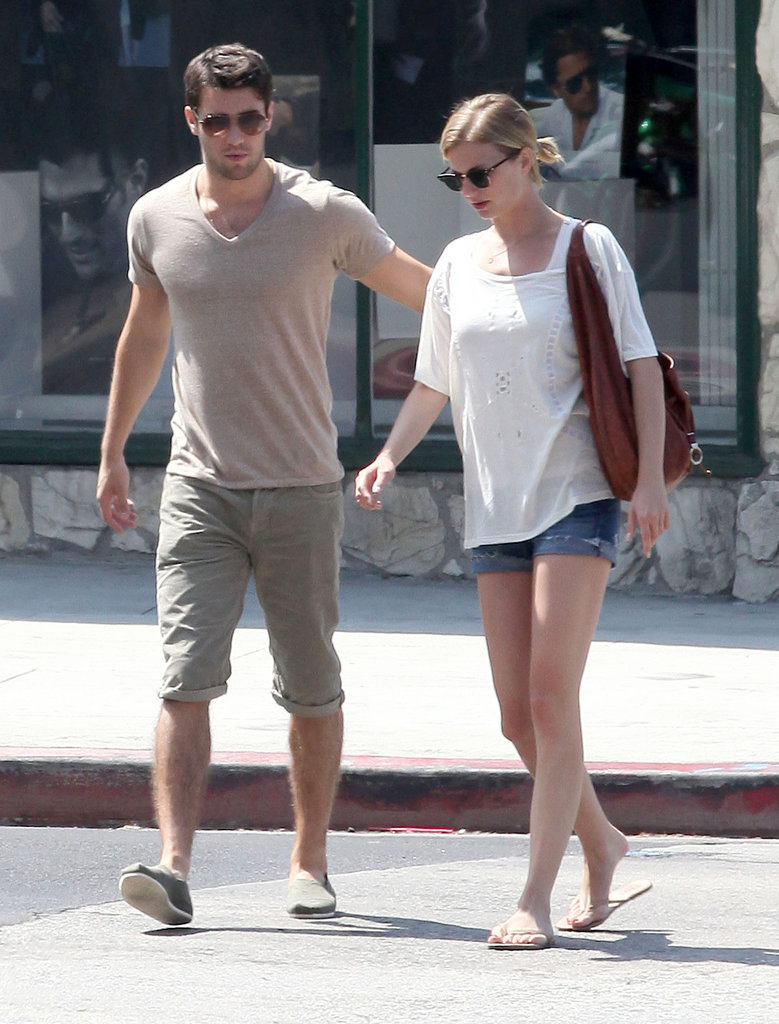Emily VanCamp and Joshua Bowman stayed close leaving brunch together in LA.
