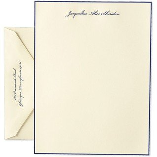 Navy Blue Bordered Letter Sheets