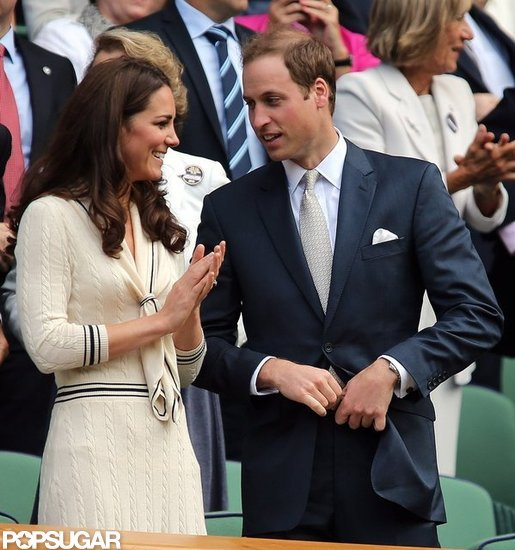 Kate Middleton clapped at Wimbledon with Prince William.