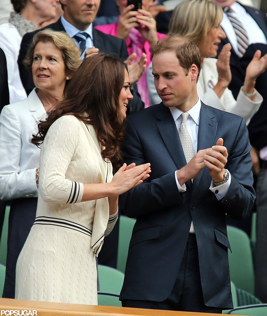 Kate Middleton leaned in to Prince William.