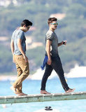 Zac Efron was in St.-Tropez with friends.