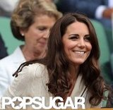 Kate Middleton smiled at Wimbledon.