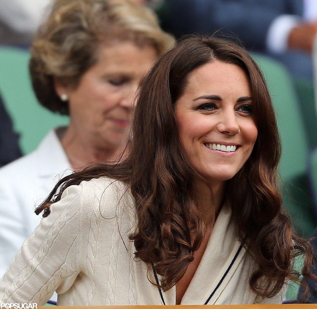 Kate Middleton smiled at Wimbledon.