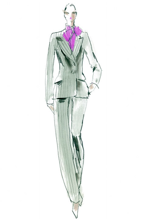 Steven Stipelman's Saint Laurent Paris Sketches