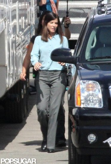 Sandra Bullock Reports Solo to the Set of Her Buddy Comedy