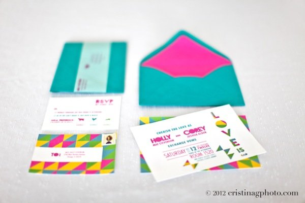 '80s-Inspired Invitation Suite