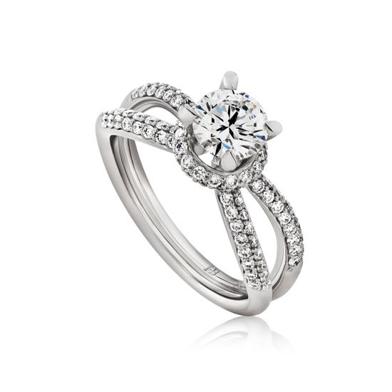 1.75 carat platinum and diamond ring, from $26,680, Hardy Brothers, stockists: (07) 3253 6434