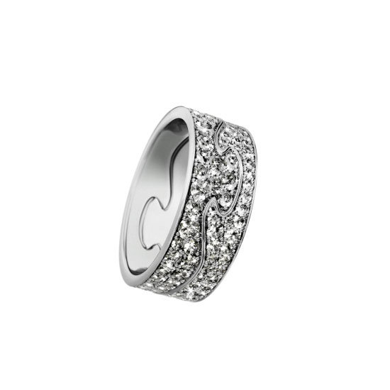 Fusion 18 carat white gold with brilliant cut diamond ring, $12,500, Georg Jensen