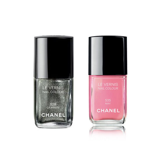 Chanel Le Vernis in Graphite and May ($39 each) Stockists: 1300 CHANEL