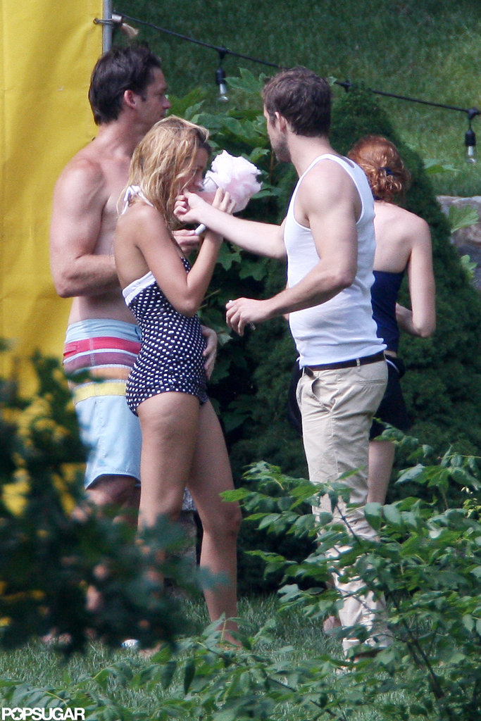 Ryan Reynolds and Blake Lively showed affection while in New York together for the Fourth of July.