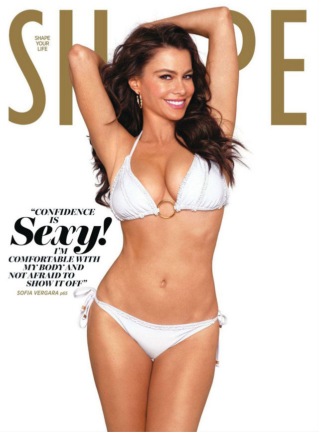 Sofia got white hot on the cover of Shape's March 2011 issue.  Source: Shape