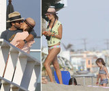 Alessandra Flaunts Postbaby Bikini Body and Shows PDA on the Beach