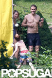 Ryan Reynolds was shirtless with Blake Lively in New York for the Fourth of July.