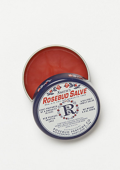 """My beauty style is pretty low key and I do heaps of traveling. The best thing for me is maximum hydration, including my lips, so I always have a little pot of classic rosebud salve in my bag. Pucker up!"" — Behati Prinsloo  Smith's Rosebud Salve ($6)"