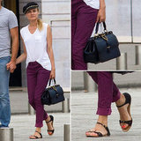 Diane Kruger Street Style at Couture Fashion Week