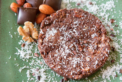 raw vegan chocolate coconut cookies