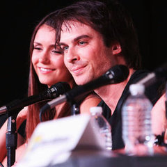 The Vampire Diaries Panel at 2012 Comic-Con Celebrity Pictures of Ian Somerhalder and Nina Dobrev