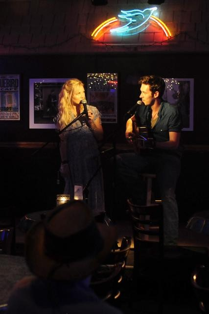 Clare Bowen and Sam Palladio on Nashville.