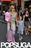 Heidi Klum sported a pair of cute shades while walking through Times Square with her kids.