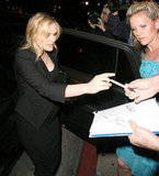 Anna Paquin signed autographs for fans outside of BOA Steakhouse in West Hollywood.