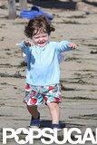 Skyler Berman had fun on the beach in Malibu.