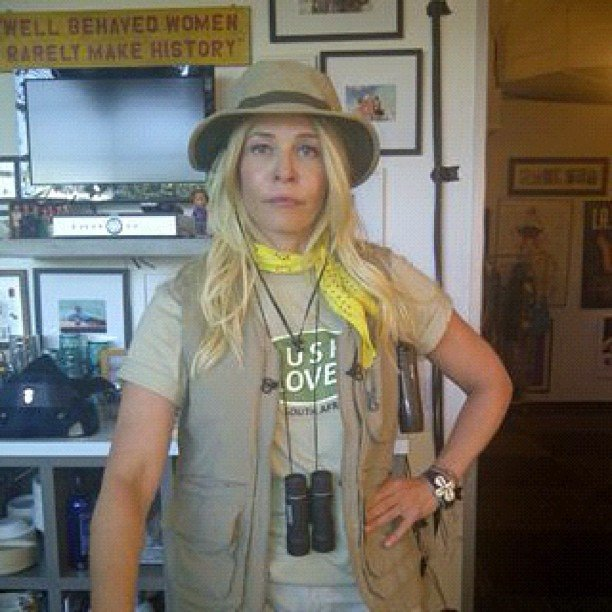 Chelsea Handler geared up for an outdoorsy day in July. Source: Instagram user chelseahandler