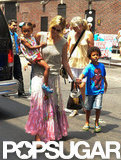 Heidi Klum and her kids enjoyed the sunshine in NYC.