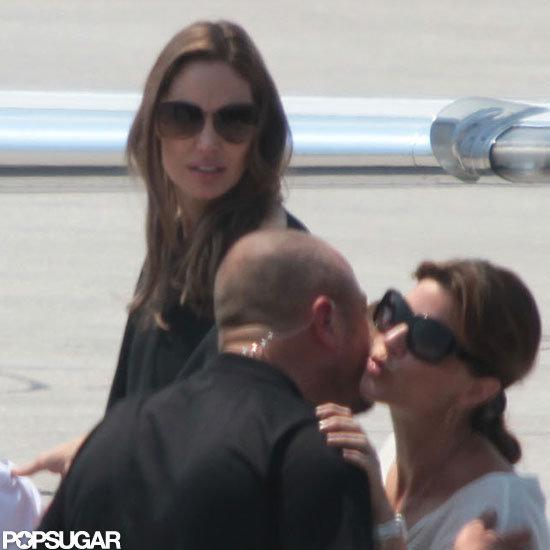 Angelina Jolie left Bosnia after attending the Sarajevo Film Festival.
