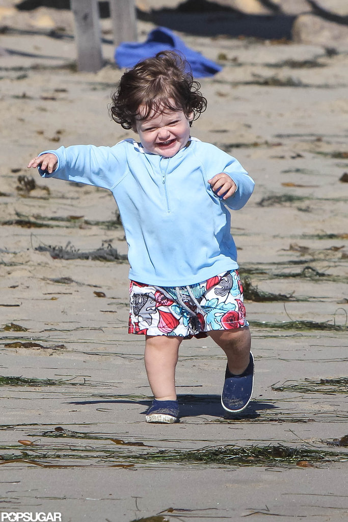 Skyler Berman ran along the beach in Malibu.
