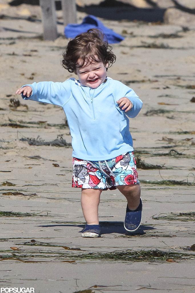 Skyler Berman ran along the beach in Malibu.