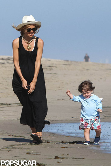 Rachel Zoe and Skyler Berman had fun running along the beach together in Malibu.