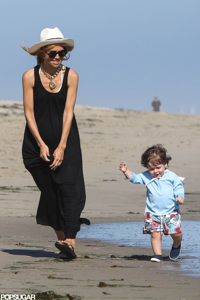 Rachel Zoe and Skyler Berman had fun running along the beach together in Malibu.