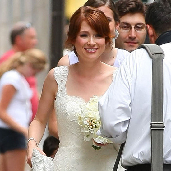 Ellie Kemper on her wedding day.