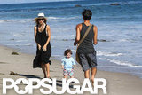 Rachel Zoe and Skyler Berman spent the day hanging out on the beach in Malibu together with a friend.