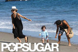 Rachel Zoe and Skyler Berman had fun on the beach in Malibu with a friend.