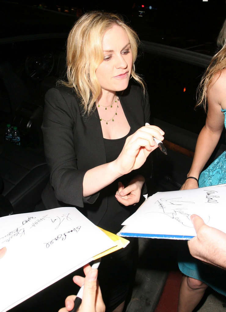 Anna Paquin took a moment to greet fans and sign autographs in West Hollywood.