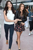 Nikki Reed and Ashley Greene walked arm in arm in 2011.