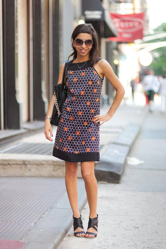 A little printed sheath goes a long way in updating an everyday look — basically, it's all you need. Photo courtesy of Adam Katz Sinding