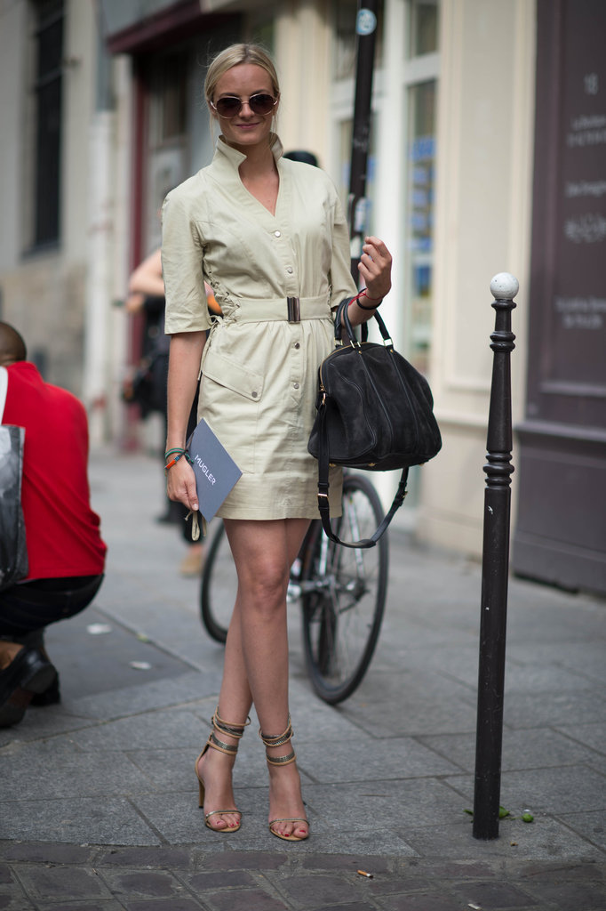 We can't get enough of this cool, confident style pro and her perfect-fit day dress. Photo courtesy of Adam Katz Sinding