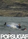 Prince Williams and Prince Harry splashed around in the ocean over the weekend.