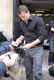 Channing Tatum signed autographs for fans in London.