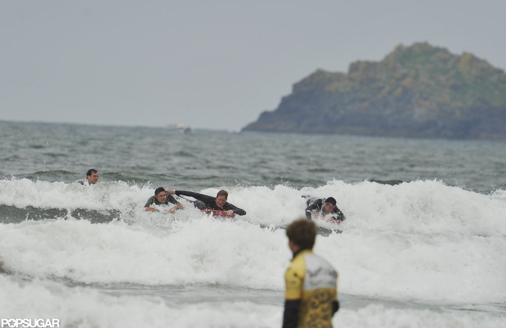 Prince Harry rode a wave in Cornwall.