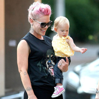 Pink With Willow and Husband in NYC