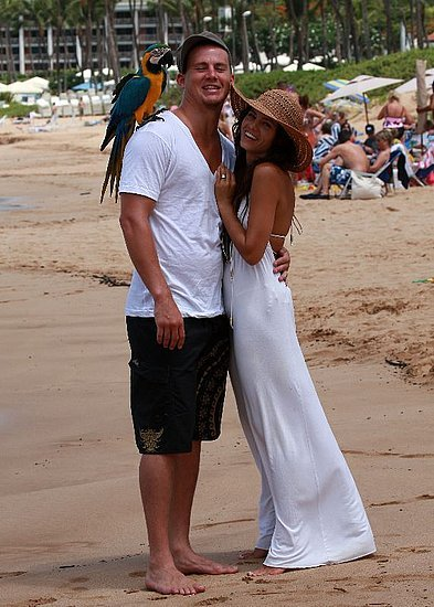Channing Tatum and Jenna Dewan celebrated their September 2008 engagement with a photo on the beach in Maui, HI.