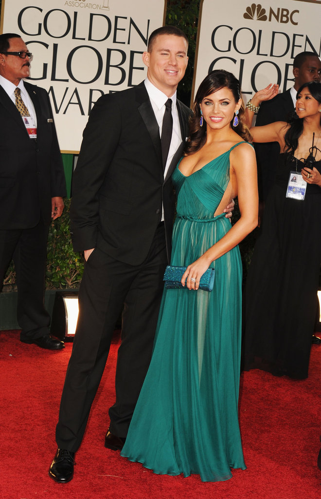Channing Tatum brought Jenna Dewan as his date to the 2012 Golden Globe Awards in LA.